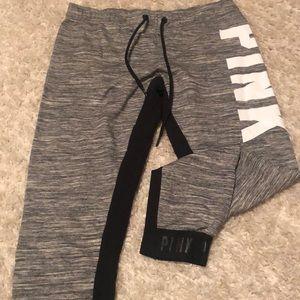 PINK Capri sweats in heather grey never worn